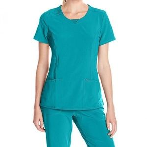 Cherokee Infinity Teal Blue Scrub top and pant